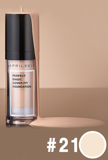 Picture of APRIL SKIN | Perfect Magic Cover Fit Foundation #21 Light Beige
