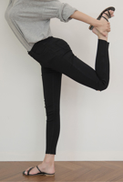 Picture of By SECRET LABEL | Tight Span Ripped High Waist Slit Skinny Pants #Black