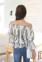 Picture of By SECRET LABEL | Lovely Off Shoulder Blouse #White