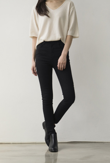 Picture of By BLUE LABEL | Perfect Fit no. 42 Black Skinny Pants #Black