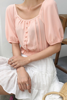 Picture of By DANHAROO | Jane Puff Cropped Blouse #Pink