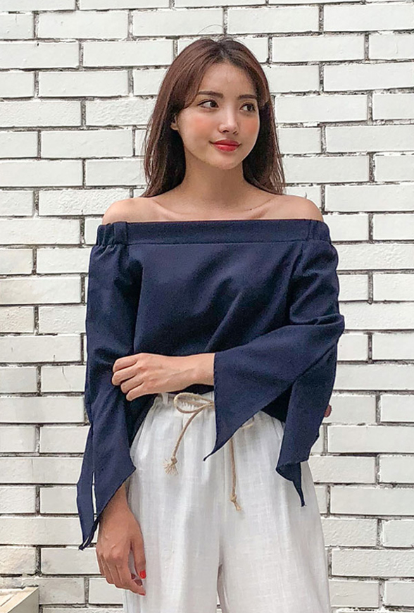 Picture of By DANHAROO | Some Off Shoulder Blouse #Navy