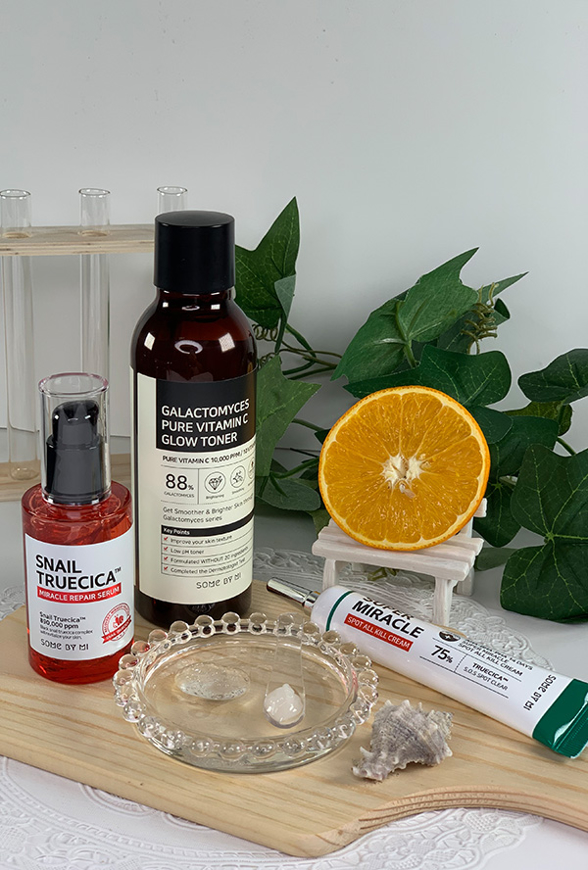 Picture of SOME BY MI | Repair Set | Galactomyces Toner + Snail Serum + Spot All Kill Cream