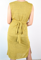 Picture of By FLROOM | TR Two Pieced Dress #Mustard