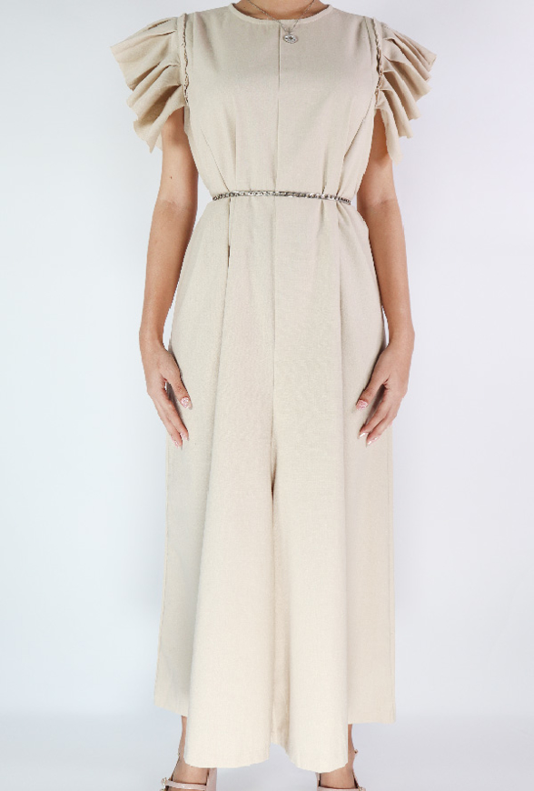 Picture of By FLROOM | Wings Jumpsuit #Beige