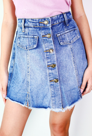 Picture of By FLROOM   Denim Skirt Pants #Blue