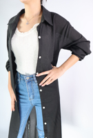 Picture of By FLROOM   Plain Long Shirts #Black