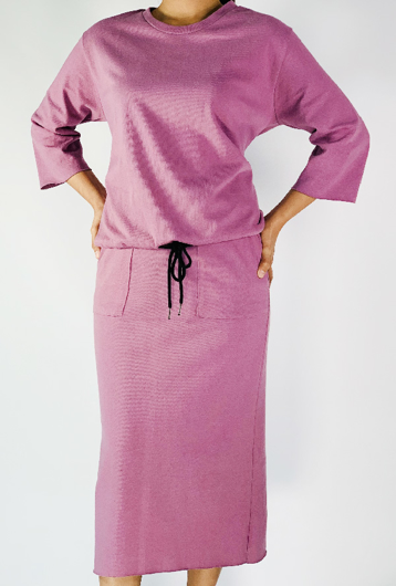 Picture of By FLROOM | Millan Two Pieced Dress #Violet