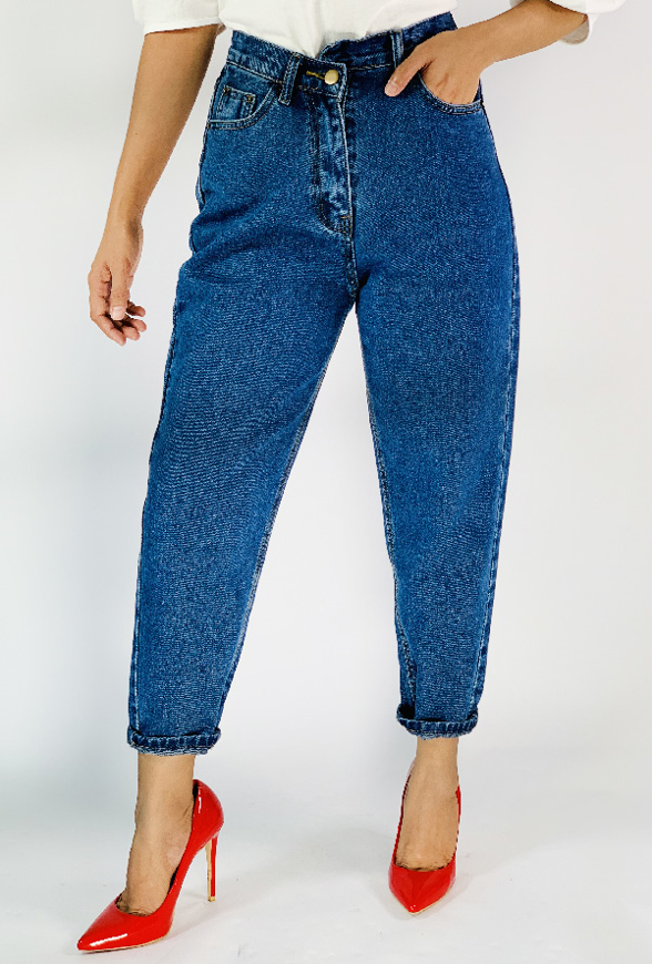 Picture of By FLROOM   Unbalanced Closing Jeans #Blue