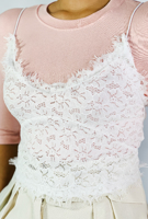 Picture of By FLROOM | Jenny Lace Top #White