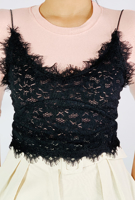 Picture of By FLROOM | Jenny Lace Top #Black