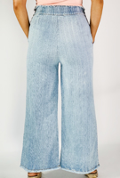Picture of By FLROOM | Stripe Denim Pants #Light Blue