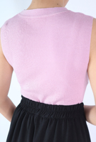 Picture of By FLROOM | Round Sleeveless Knit Top #Purple