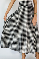 Picture of By FLROOM   Check Big Skirt #Black