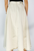 Picture of By FLROOM | Cotton Flared Skirts #Beige