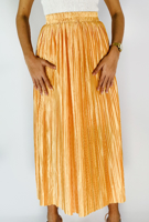 Picture of By FLROOM | Pearl Pleated Skirt #Yellow