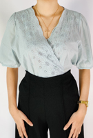 Picture of By FLROOM | V-Neck Blouse #Sky Blue