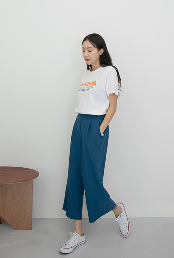 Picture of By SECRET LABEL | Daily Wide Pants #Blue