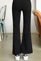 Picture of By SECRET LABEL | Bootcut Spandex Slacks #Black
