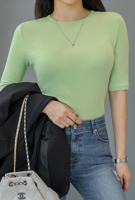 Picture of By SECRET LABEL   Slim Short T-Shirts #Green