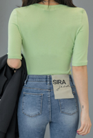 Picture of By SECRET LABEL | Slim Short T-Shirts #Green