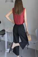 Picture of By SECRET LABEL | Ice Wide Capri Pants #Black