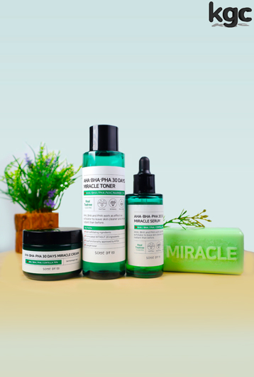 Picture of SOME BY MI | Miracle Set | Cleansing Bar + Toner + Serum + Cream