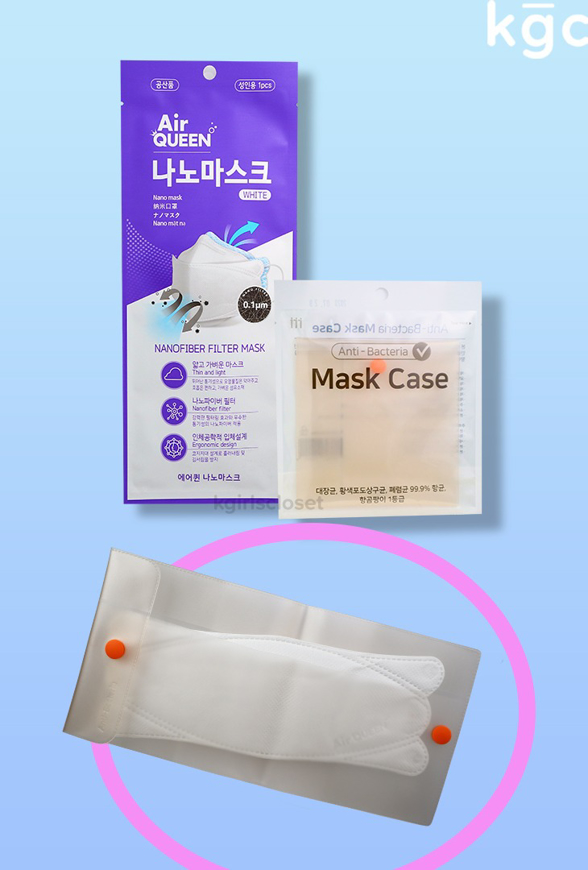Picture of Airqueen Nano Mask + Anti Bacterial Mask Case