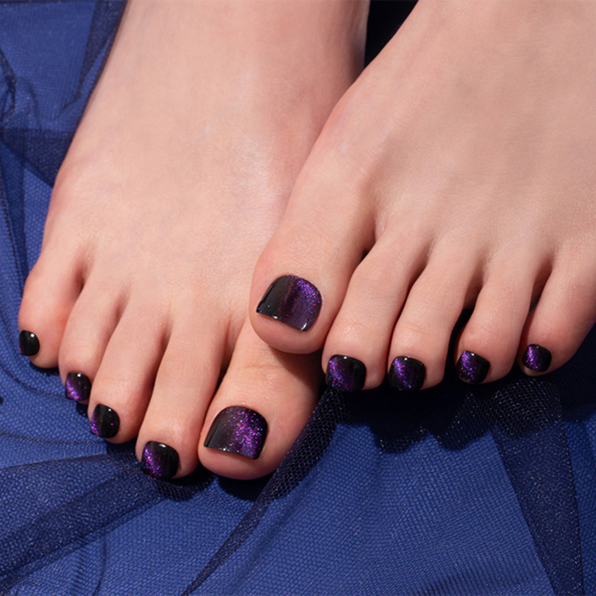 Picture of GELATO FACTORY | Gel Pedicure Tip Tibu Basic #Deep Purple Galaxy