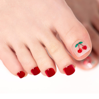 Picture of GELATO FACTORY | Gel Pedicure Tip Tibu Basic #Mirotic Cherry