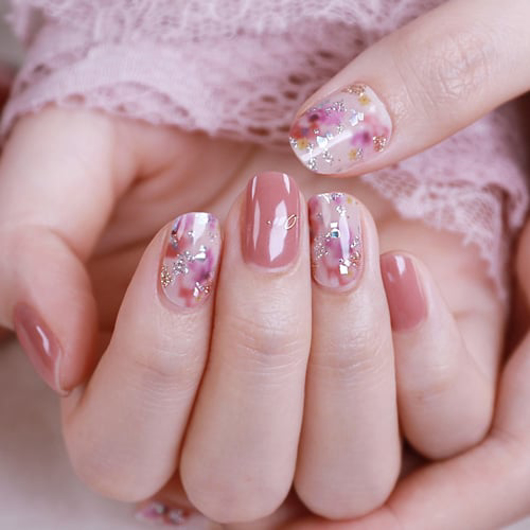 Picture of GELATO FACTORY   Gel Nail Sticker Hotto Fit Basic #Deep Pink Flower