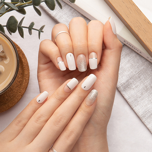 Picture of GELATO FACTORY   Gel Nail Sticker Hotto Fit Pro #Shine White