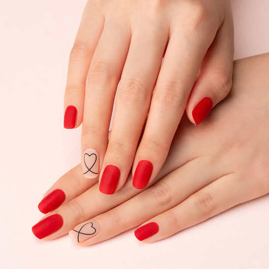 Picture of GELATO FACTORY   Gel Nail Sticker Hotto Fit Pro #Simple Drawing Heart