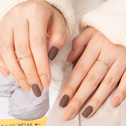 Picture of GELATO FACTORY   Gel Nail Sticker Hotto Fit Pro #Oker Brown