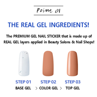 Picture of GELATO FACTORY | Gel Nail Sticker Hotto Fit Basic #Dry Rose Syrup