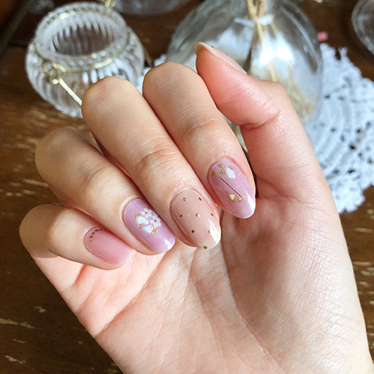 Picture of GELATO FACTORY   Gel Nail Sticker Hotto Basic #Dot Flower